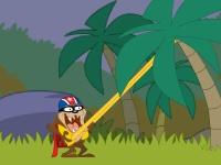 Флеш игра Прыжки Таза в джунглях