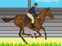 Флеш игра Прыжки через барьер на лошади