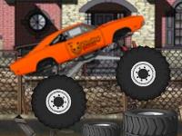 Флеш игра Прыжки на грузовике монстре