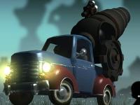 Флеш игра Пушка на машине против зомби