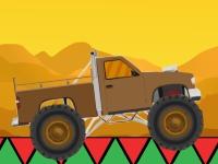 Флеш игра Пустынная гонка на грузовике монстре