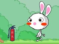 Флеш игра Радужный кролик идет домой