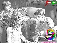 Флеш игра Раскрась Гарри и его друзей