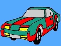 Флеш игра Раскрась автомобиль
