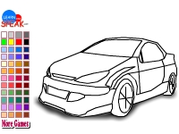Флеш игра Раскрась гоночный автомобиль