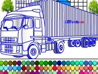 Флеш игра Раскрась контейнеровоз