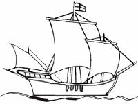 Флеш игра Раскрась кораблик в море