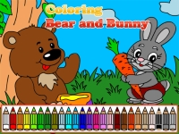Флеш игра Раскрась кролика и мишку