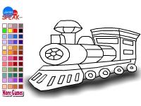 Флеш игра Раскрась локомотив