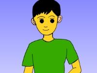 Флеш игра Раскрась мальчика