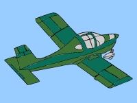 Флеш игра Раскрась маленький самолет