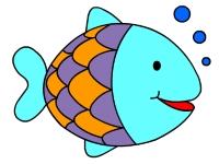 Флеш игра Раскрась рыбок в аквариуме