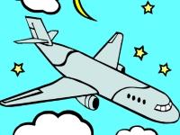 Флеш игра Раскрась самолетики