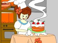 Флеш игра Раскрась удивительный торт
