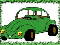 Флеш игра Раскрась веселое авто