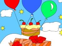 Флеш игра Раскрась вкусный торт