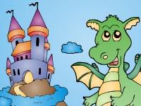 Флеш игра Раскрашиваем дракона