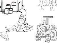 Флеш игра Раскраска Утка на ферме