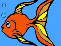 Флеш игра Раскраска: Золотая рыбка