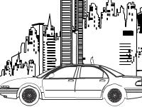 Флеш игра Раскраска: автомобиль Орел