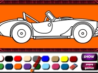 Флеш игра Раскраска спортивного авто