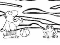 Флеш игра Раскраска заброшенного острова
