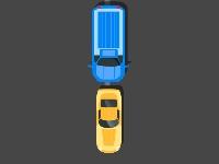 Флеш игра Разноцветные машины
