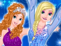 Флеш игра Развлечения принцесс на Новый год