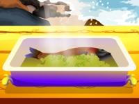 Флеш игра Рецепт жаренного морского леща