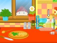 Флеш игра Рецепты Эммы: Спагетти Болоньезе