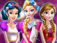 Флеш игра Ретро выпускной у принцесс