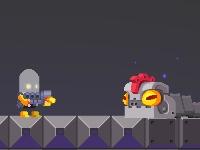 Флеш игра Робот на защите инопланетян