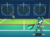 Флеш игра Роботы подростки: Увлекательный теннис