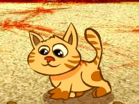Флеш игра Рогатка и коты