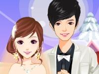 Флеш игра Романтическая зимняя свадьба