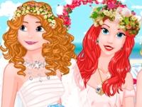 Флеш игра Роскошная брендовая свадьба у принцесс