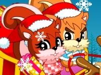 Флеш игра Рождественские белки