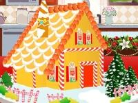 Флеш игра Рождественский пряничный домик