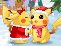 Флеш игра Рождество для покемонов