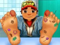 Флеш игра Сабвей Серф: Травма ног