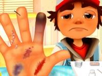 Флеш игра Сабвей Серф: Травма рук