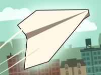 Флеш игра Самолетик из бумаги