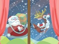 Флеш игра Санта Клаус принес подарок