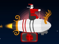 Флеш игра Санта на ракете
