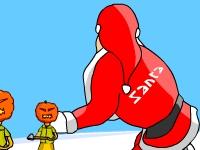 Флеш игра Санта на сноуборде
