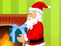 Флеш игра Санта раздает подарки