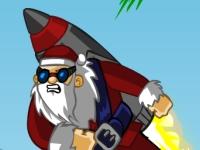 Флеш игра Санта с ракетой 2