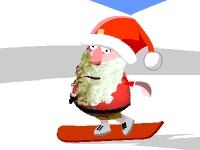 Флеш игра Санта сноубордист