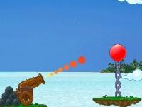 Флеш игра Сбей шарик на цепи