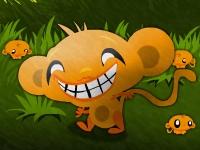 Флеш игра Счастливые обезьянки: Мини обезьянки